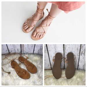 Madewell The boardwalk gladiator wrap sandals